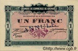 1 Franc FRANCE régionalisme et divers Grenoble 1916 JP.063.07 TTB à SUP