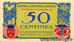 50 Centimes FRANCE régionalisme et divers Grenoble 1917 JP.063.10 TTB à SUP