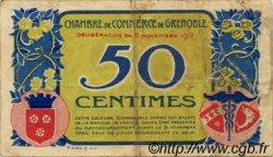 50 Centimes FRANCE régionalisme et divers GRENOBLE 1917 JP.063.10 TB