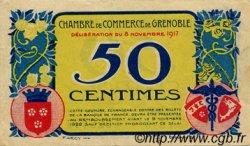 50 Centimes FRANCE régionalisme et divers GRENOBLE 1917 JP.063.11 TTB à SUP