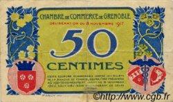 50 Centimes FRANCE régionalisme et divers GRENOBLE 1917 JP.063.11 TB