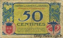 50 Centimes FRANCE régionalisme et divers GRENOBLE 1917 JP.063.12 TB