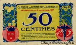 50 Centimes FRANCE régionalisme et divers Grenoble 1917 JP.063.13 TTB à SUP