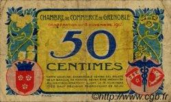 50 Centimes FRANCE régionalisme et divers Grenoble 1917 JP.063.13 TB