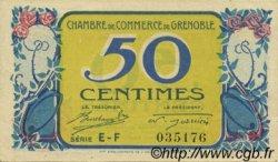 50 Centimes FRANCE régionalisme et divers Grenoble 1917 JP.063.14 TTB à SUP