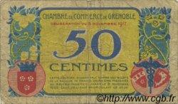 50 Centimes FRANCE régionalisme et divers Grenoble 1917 JP.063.14 TB