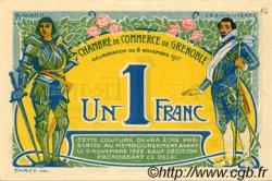 1 Franc FRANCE régionalisme et divers GRENOBLE 1917 JP.063.20 SPL à NEUF