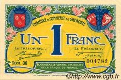 1 Franc FRANCE régionalisme et divers GRENOBLE 1917 JP.063.20 TTB à SUP