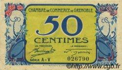 50 Centimes FRANCE régionalisme et divers Grenoble 1917 JP.063.22 TTB à SUP