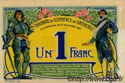 1 Franc FRANCE régionalisme et divers Grenoble 1917 JP.063.25 TTB à SUP