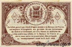 50 Centimes FRANCE régionalisme et divers Guéret 1915 JP.064.01 TTB à SUP