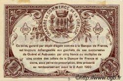 2 Francs FRANCE régionalisme et divers GUÉRET 1915 JP.064.05 SPL à NEUF