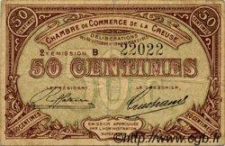 50 Centimes FRANCE régionalisme et divers Guéret 1915 JP.064.07 TB