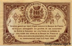 2 Francs FRANCE régionalisme et divers Guéret 1920 JP.064.11 TTB à SUP