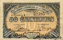 50 Centimes FRANCE régionalisme et divers GUÉRET 1917 JP.064.13 TTB à SUP