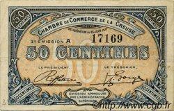 50 Centimes FRANCE régionalisme et divers Guéret 1917 JP.064.13 TB