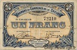 1 Franc FRANCE régionalisme et divers GUÉRET 1917 JP.064.14 TB
