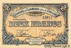 2 Francs FRANCE régionalisme et divers GUÉRET 1917 JP.064.15 SPL à NEUF