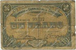 1 Franc FRANCE régionalisme et divers GUÉRET 1918 JP.064.17 TB