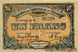 1 Franc FRANCE régionalisme et divers GUÉRET 1920 JP.064.20 TTB à SUP