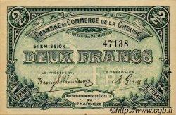 2 Francs FRANCE régionalisme et divers GUÉRET 1920 JP.064.21 TTB à SUP