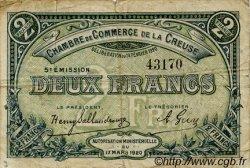 2 Francs FRANCE régionalisme et divers Guéret 1920 JP.064.21 TB