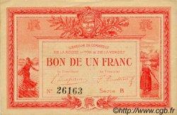 1 Franc FRANCE régionalisme et divers LA ROCHE-SUR-YON 1915 JP.065.05 TTB à SUP