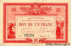 1 Franc FRANCE régionalisme et divers LA ROCHE-SUR-YON 1915 JP.065.17 TTB à SUP