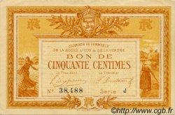 50 Centimes FRANCE régionalisme et divers LA ROCHE-SUR-YON 1915 JP.065.23 TTB à SUP