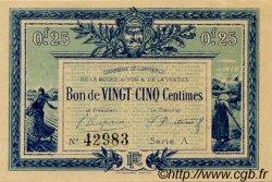 25 Centimes FRANCE régionalisme et divers LA ROCHE-SUR-YON 1916 JP.065.26 TTB à SUP