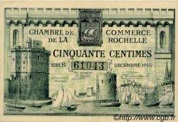 50 Centimes FRANCE régionalisme et divers La Rochelle 1915 JP.066.01 SPL à NEUF