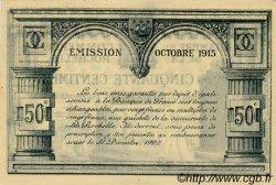 50 Centimes FRANCE régionalisme et divers La Rochelle 1915 JP.066.01 TTB à SUP