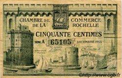 50 Centimes FRANCE régionalisme et divers LA ROCHELLE 1915 JP.066.01 TB