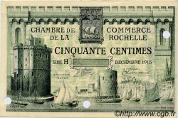 50 Centimes FRANCE régionalisme et divers LA ROCHELLE 1915 JP.066.02 TTB à SUP