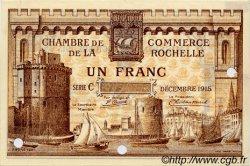 1 Franc FRANCE Regionalismus und verschiedenen La Rochelle 1915 JP.066.04 SS to VZ