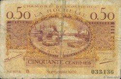 50 Centimes FRANCE régionalisme et divers La Rochelle 1920 JP.066.07 TB