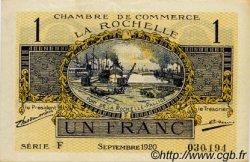 1 Franc FRANCE régionalisme et divers La Rochelle 1920 JP.066.09 SPL à NEUF