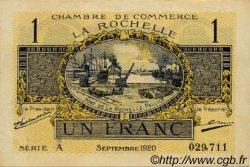 1 Franc FRANCE régionalisme et divers LA ROCHELLE 1920 JP.066.09 TTB à SUP