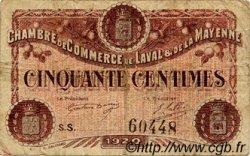 50 Centimes FRANCE régionalisme et divers Laval 1920 JP.067.01 TB