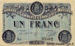 1 Franc FRANCE régionalisme et divers Laval 1920 JP.067.05 TTB à SUP