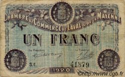 1 Franc FRANCE régionalisme et divers LAVAL 1920 JP.067.05 TB