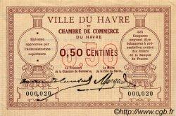 50 Centimes FRANCE régionalisme et divers LE HAVRE 1918 JP.068.01 TTB à SUP