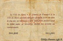 50 Centimes FRANCE régionalisme et divers Le Havre 1918 JP.068.01 TB