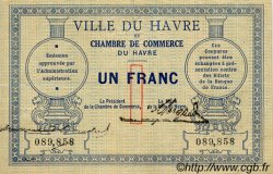 1 Franc FRANCE régionalisme et divers LE HAVRE 1914 JP.068.04 TTB à SUP