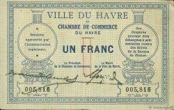 1 Franc FRANCE régionalisme et divers Le Havre 1914 JP.068.04 TB