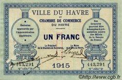 1 Franc FRANCE régionalisme et divers Le Havre 1915 JP.068.10 TB