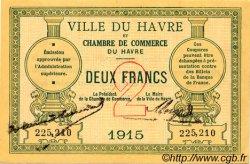 2 Francs FRANCE régionalisme et divers LE HAVRE 1915 JP.068.12 TTB à SUP