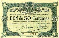 50 Centimes FRANCE régionalisme et divers Le Havre 1916 JP.068.14 TTB à SUP