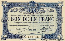 1 Franc FRANCE régionalisme et divers LE HAVRE 1916 JP.068.15 SPL à NEUF