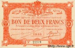 2 Francs FRANCE régionalisme et divers LE HAVRE 1916 JP.068.16 TTB à SUP